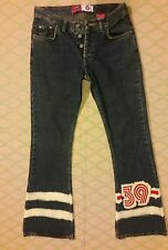 Authentic Kosiuko 26 Jean stripe #39 Denim 28/32 Flare Button Front
