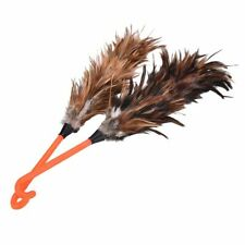 Ostrich Feather Duster Brush With Wood Handle Household Furniture Cleaning Tool