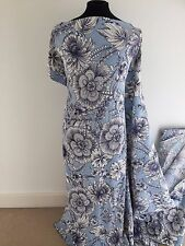 Printed Art Deco Inspired Floral Woven Stretch Cotton/Viscose Jacquard Fabric