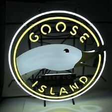 "New Goose Island Open Beer Bar Neon Light Sign 24""x20"""