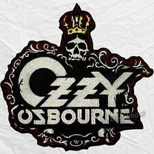 Ozzy Osbourne Big Logo Embroidered Patch Skull with Crown Black Sabbath Rock