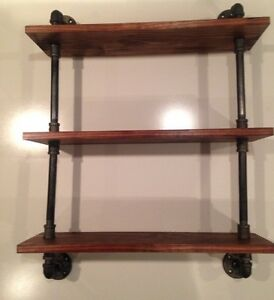 Industrial Urban Pipe Three Tier shelf (Pick your own stain)