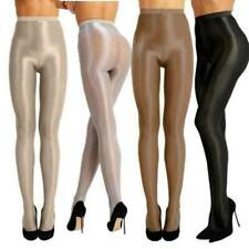 Womens High-Glossy Pantyhose Tights Elastic Oil Shiny Stocking Hosiery Plus Size