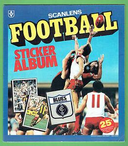 #FF. SET OF  1983 SCANLENS VFL  UNMOUNTED  STICKERS & ALBUM