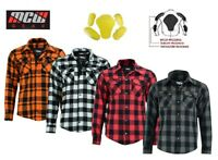 Men Motorcycle Motorbike Lumberjack Mesh Lined Boys Shirt Protective CE Armoured