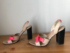 $350 L'AGENCE Made in Los Angeles nude/pink leather sandals shoes sz 8.5