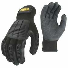 DEWALT IMPACT HYBRID WORK GLOVES Large Gray/Black/Yellow Safety Gear PPE NEW