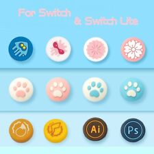 Kawaii Thumb Grips Cap Cover for Nintendo Switch and Switch Lite Joycon Joystick