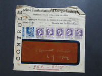 Algeria 1945 Censored Airmail Cover / Top Creasing - Z8334