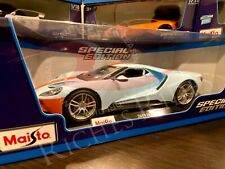 Maisto 1:18 Scale Special Edition Diecast Model Car - 2017 Ford GT (Blue)