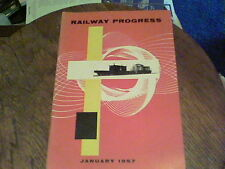 Railway Progress Jan 1957 The Nickel Plate Story, Railroad that Time Forgot  s5a