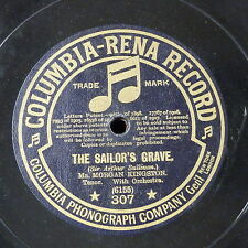 "78rpm 12"" MORGAN KINGSTON the sailors grave / when shadows gather"