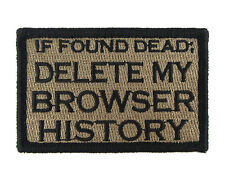 If Found Dead Delete My Browser History Hook & Loop Morale Tags Patch CB
