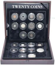 More details for twenty coins from twenty centuries world coin collection scarce rare box + coa