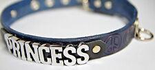 Peace Symbol locking leather collar Princess or Choose Word & color lockable
