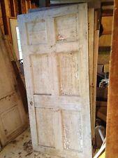6 panel wooden doors circa 1820