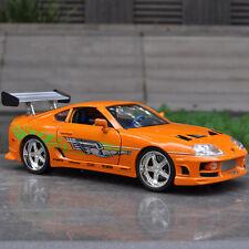 Jada Toys Fast & Furious Diecast Car Model 1:18 Toyota Supra Vehicle Replica