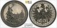 PCGS SP 65 Frankfurt 1891 Medal City View Electricity In City Germany Top Pop!!!
