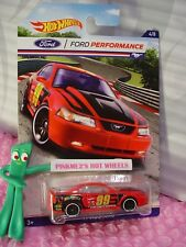 Ford Performance #4 '99 MUSTANG☆red; white pr5☆2016 Hot Wheels Walmart Exclusive