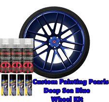DYC Performix Plasti Dip Pearl Wheel Kit 4 Matte Black 3 Deep Blue Sea Spray Can