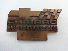 1982 Indianapolis 500 Brozne Pit Badge Gordon Johncock Patrick Wildcat Cosworth