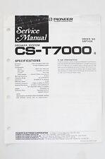 PIONEER CS-T7000 Original Speaker System Service-Manual/Schaltplan! o68