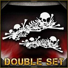 Skull Background 4 Double Set Airbrush Stencil Template Airsick