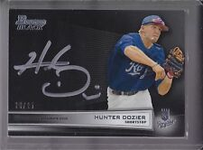 2013 Bowman Black Collection Auto #BBC-HD Hunter Dozier (20/25) RARE