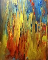 "Original Artwork Acrylic Painting Large 30"" x 24"" on Canvas Abstract Wall Decor"