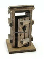 Miniature Fairy Garden Outhouse Wood w hinged door MI 50975 Faerie  Dollhouse