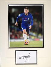 Eden Hazard-Chelsea futbolista-Excelente Foto Firmada pantalla