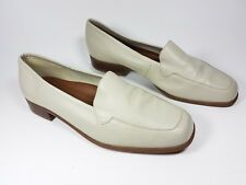 Naturalizer ivory leather 'Skyler' low block heel shoes uk 8