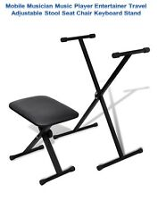 Mobile Musician Music Player Entertainer Travel Stool Seat Chair Keyboard Stand