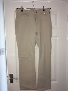 Per Una Size 14 'Stone Jeans  L28 Slim bootleg