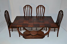 Furniture for Dolls 1:6 1/6 Set 1 lacquer Table & 4 Chairs Barbie FR NEW!