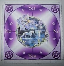 Purple Magical Unicorn Scrying Mat for use with a pendulum Wicca divination gift