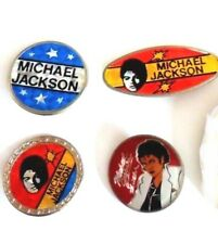 MICHAEL JACKSON x 4 badges vintage, original 80's items