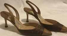 Manolo Blahnik,Tan Leather Stiletto High Heels,VINTAGE,Sze 39,Retail 875.99 SALE