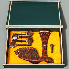 Set of Premium Snakewood Violin Fitting Pegs Tailpiece Chinrest Free US Shipping