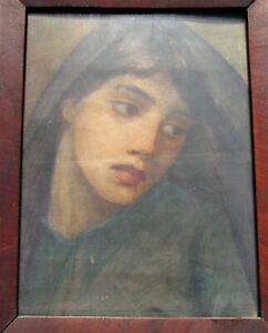 INDREDIBLE ANTIQUE PORTRAIT OIL PAINTING ON CANVAS FRAMED