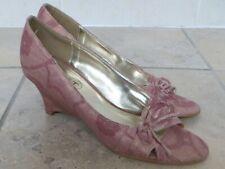 Spot On Rosa Cuña Sin Puntera Zapatos De Lona, tamaño 5