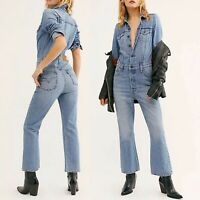 Sold Out Levi's Kick Flare Jumpsuit Free People Denim Jean romper work suit NWT
