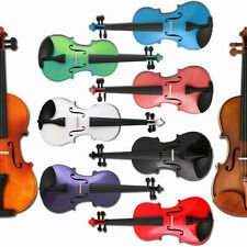 ANY Color 4/4 3/4 1/2 1/4 1/8 ACOUSTIC Violin+CASE+BOW