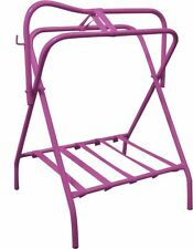 Portable Folding Floor Western or English SADDLE RACK / Stand with Bridle Hook