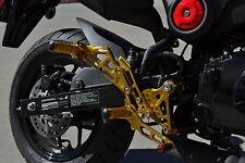 2014-2015 Honda Grom GOLD Hotbodies MGP Adjustable Rear Sets w/Passenger Pegs