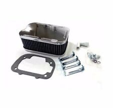NEW Weber Carburetor Chrome Air Filter Assembly Kit Clips