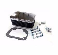 For Weber Carburetor Chrome Air Filter Assembly Kit Clips