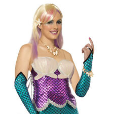 Magenta Pink Mermaid Corset Top Adult Costume Accessory NEW One Size