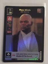 Star Wars Young Jedi ccg M/NM Mace Windu, Jedi Warrior Reflections Foil