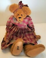 "Vintage ARTIST SIGNED "" DeVera"" Large 24"" Tall OOAK Handmade TEDDY BEAR in Dress"